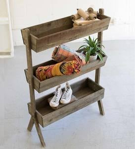Three Tiered Rectangular Wooden Planter