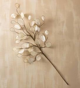 Shimmering Silver Dollar Branch Spray