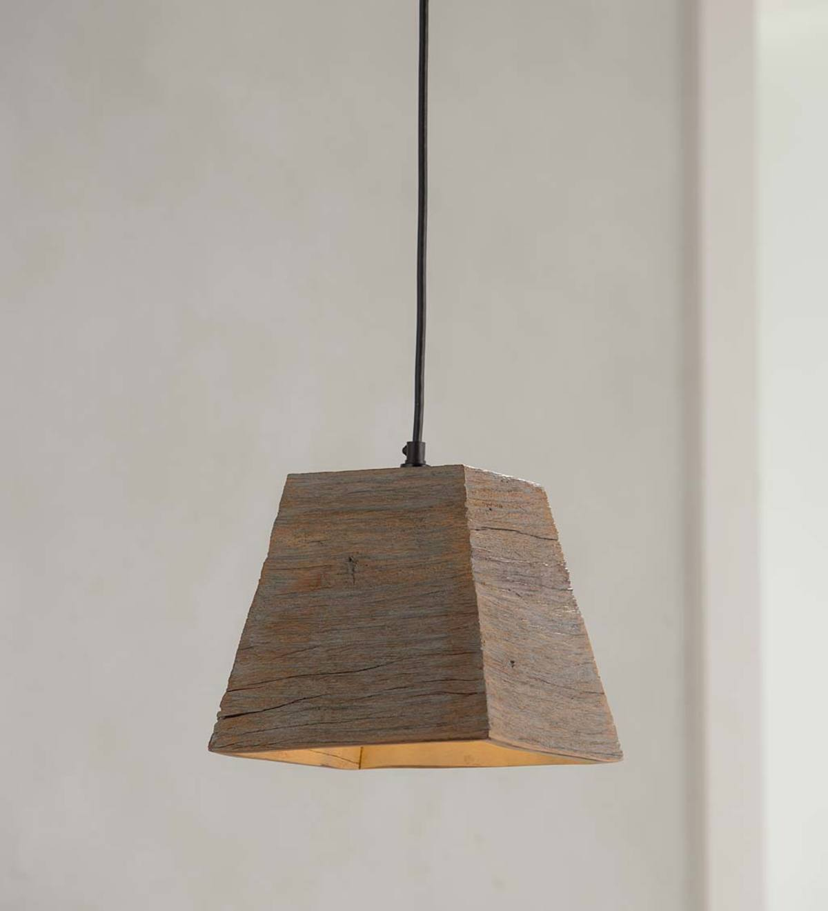 Rustic Wood Pendant Light