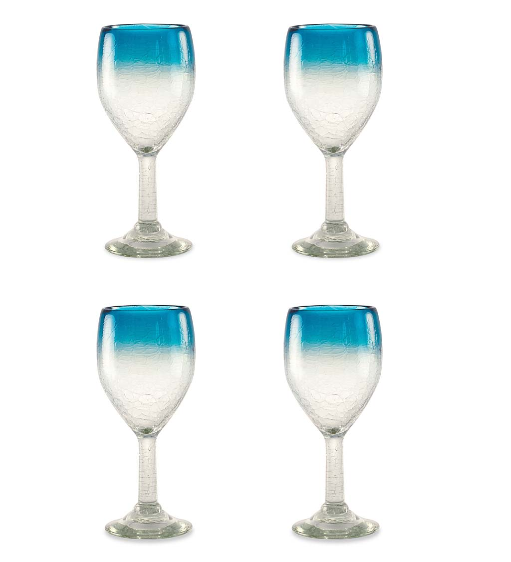 Maya Recycled Wine Glasses, Set /4