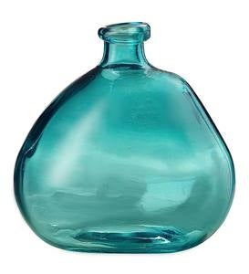 Askew Recycled Glass Balloon Vase, 9""