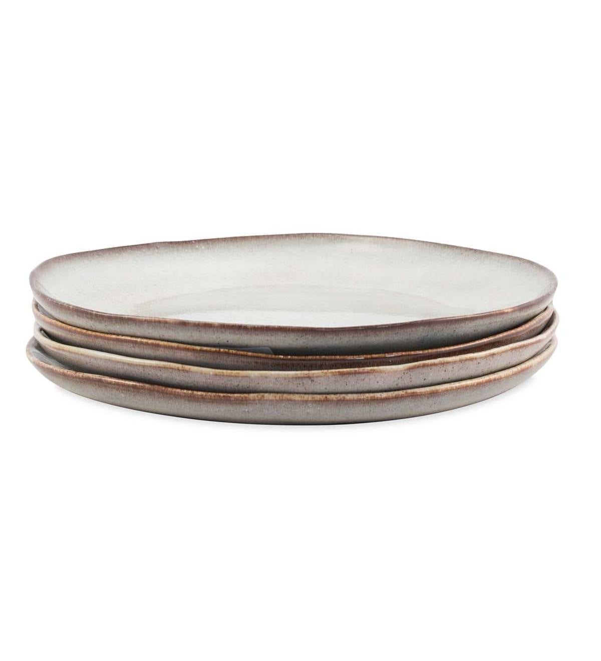 "Farmstead 11"" Stoneware Dinner Plates, Set of 4 - Bisque"