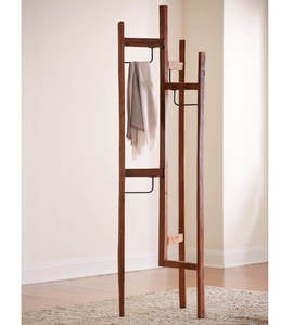 Recycled Teak Tri-Fold Clothes Rack
