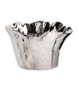 Organic Shaped Cast Aluminum Blooming Bowl