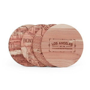 City Cedar Coasters, Set of 4 - Manhattan