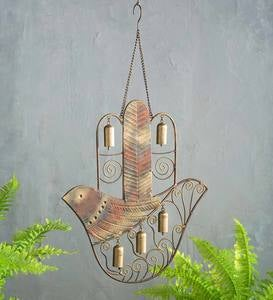 Recycled Metal Dove In Hand Bell Chime