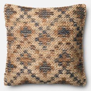 Loloi Modern Aztec Throw Pillow in Brown - Brown