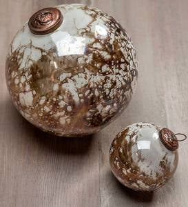 Marbled Mercury Glass Ornaments