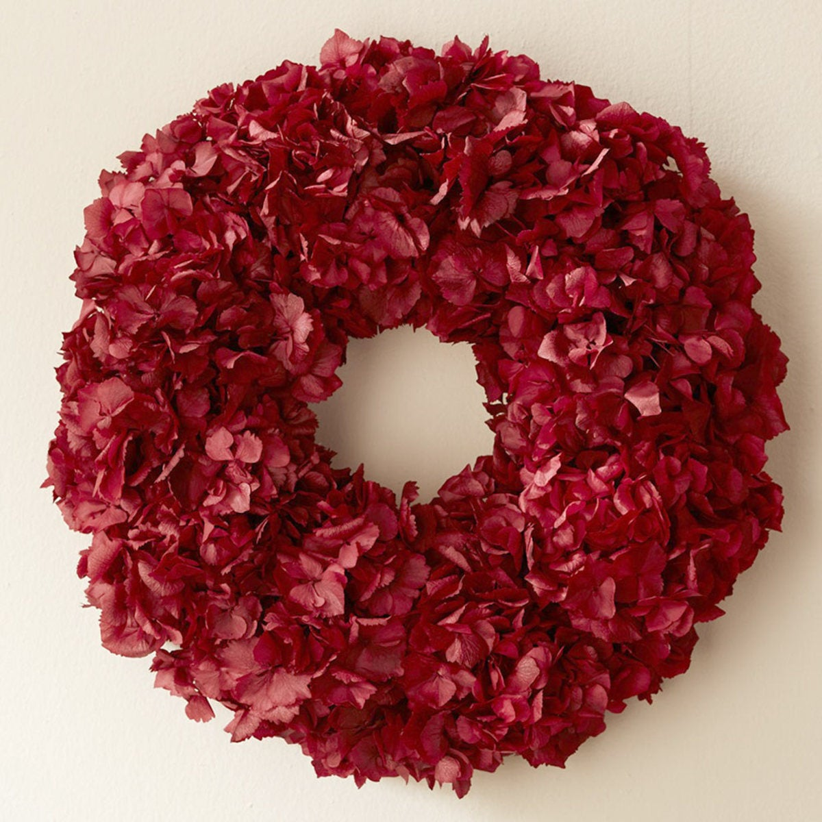 Red Hydrangea Wreath