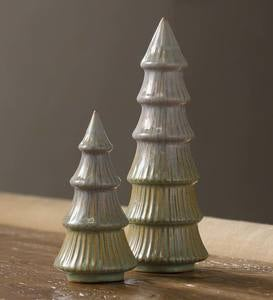 Vermont Ceramic Trees, Set of 2
