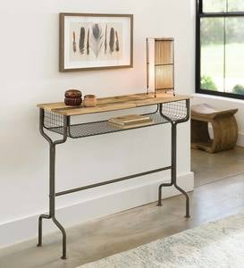 Metal School Desk Console
