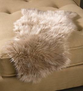 Faux Fur Throws - Taupe