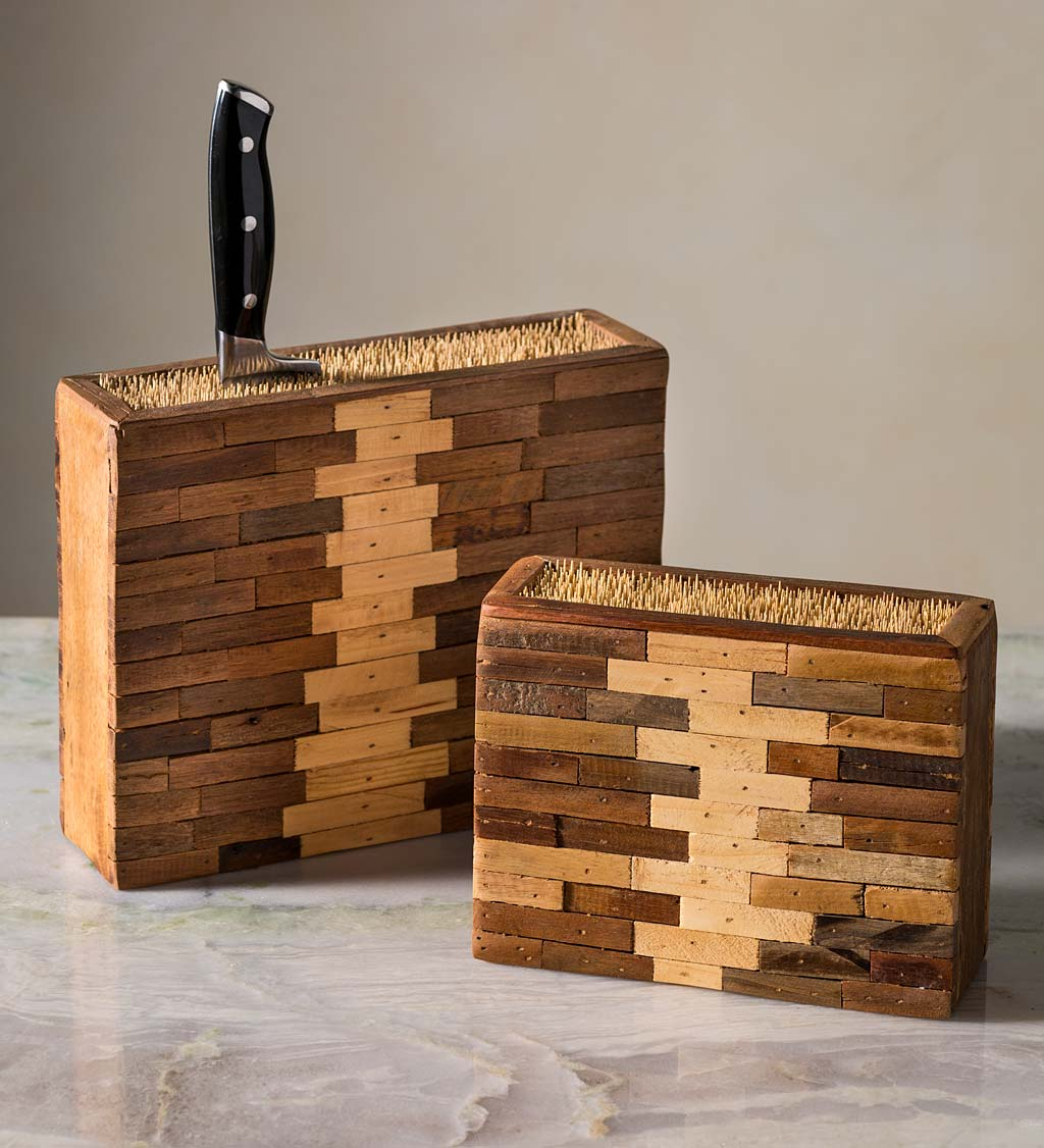 Bamboo and Reclaimed Wood Knife Boxes