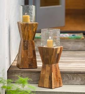 Mosaic Wood Base Hurricanes