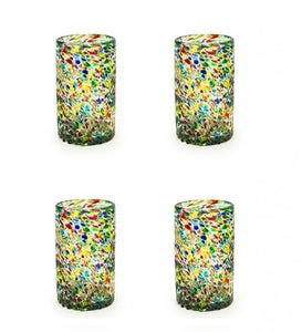 Confetti Recycled Pint Glass, Set of 4