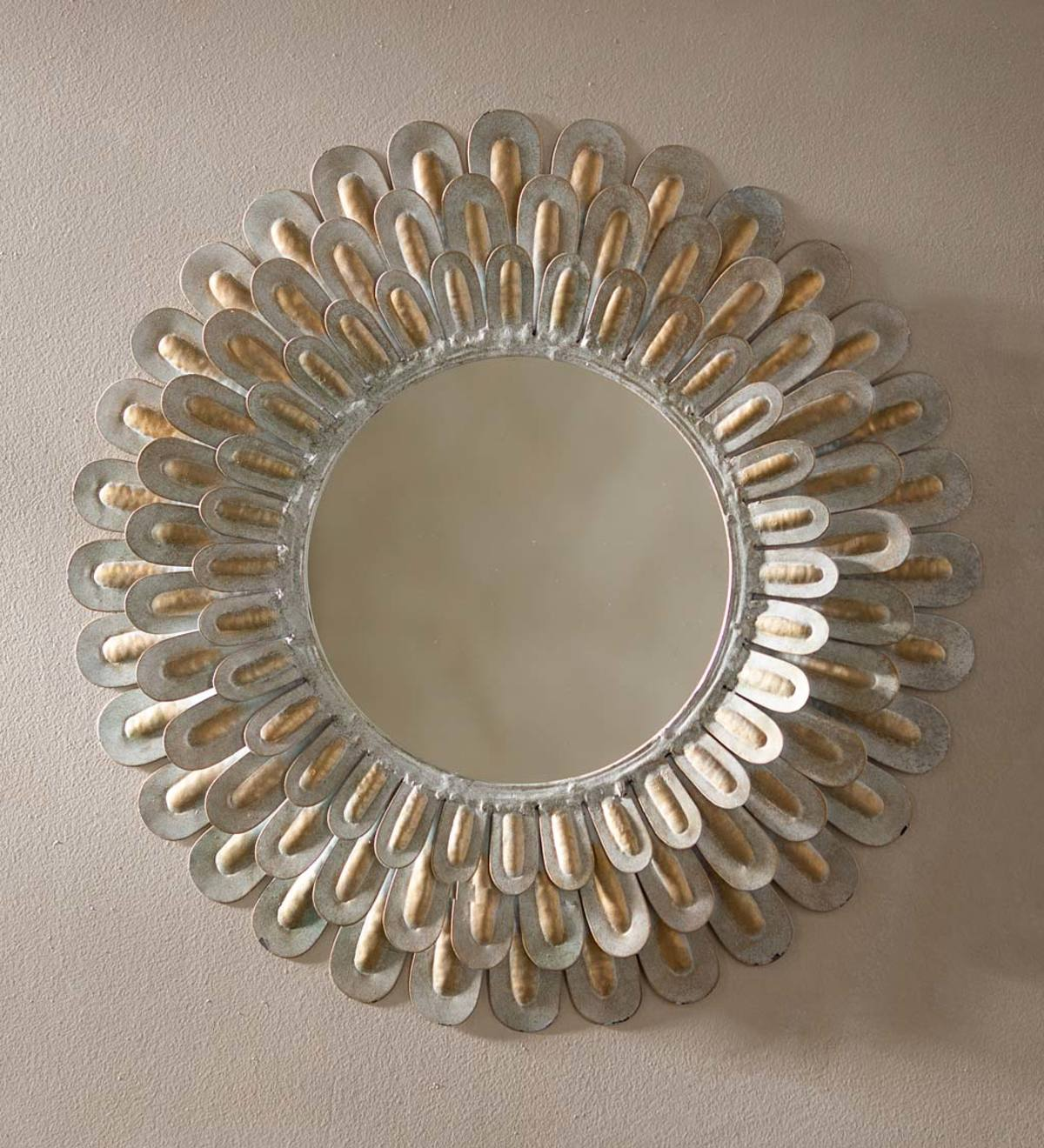 Metal Feather Mirror