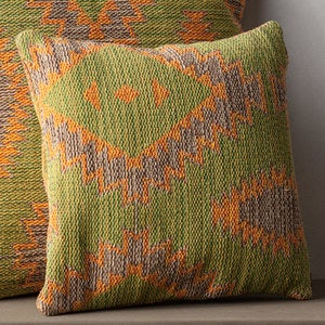 Handwoven Cotton Kilim Pillow Cover - 26""
