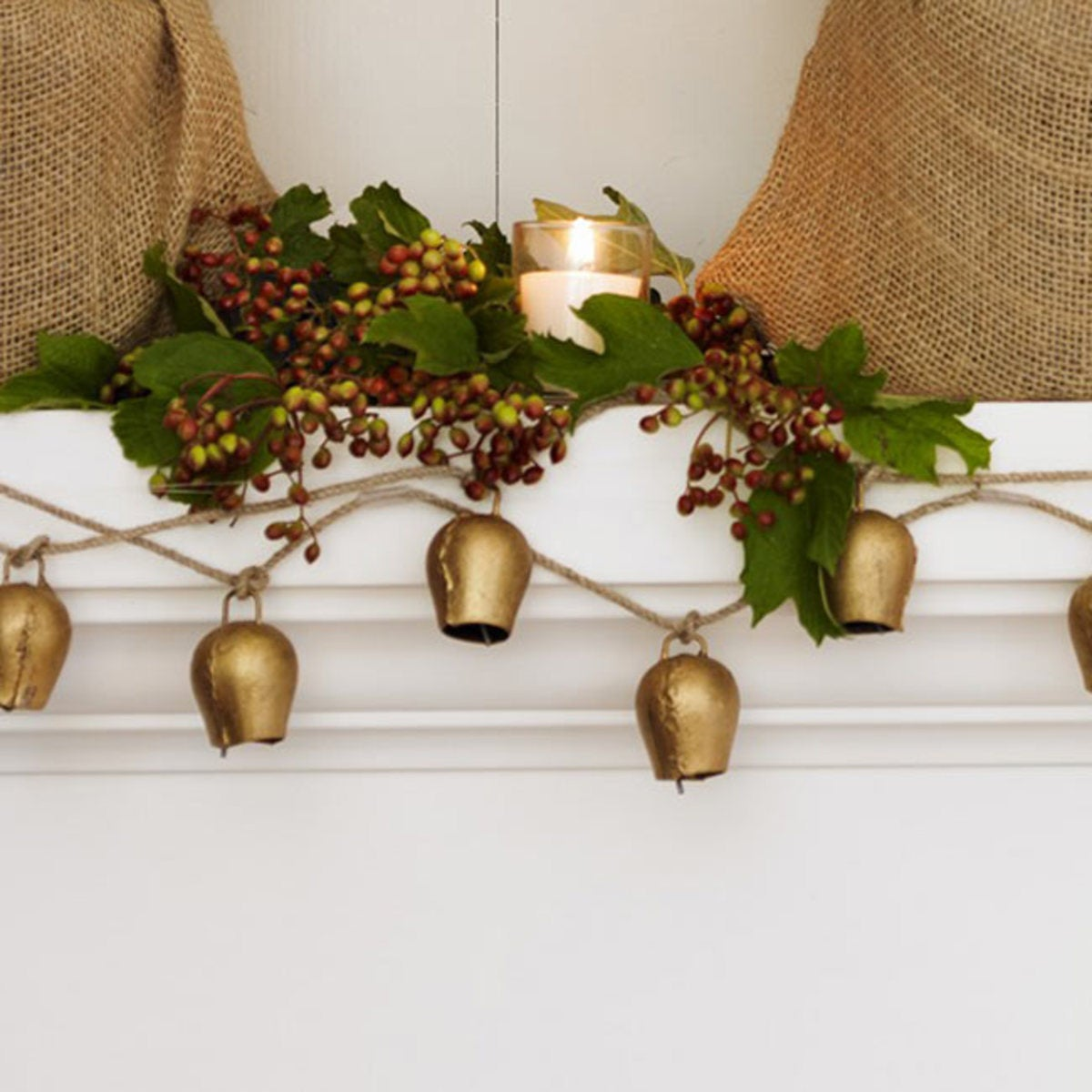 Mini Temple Bell Garland - Gold