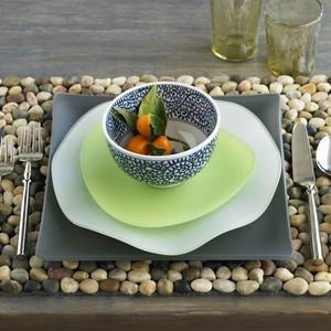 River Stone Placemats, Set of 4 - Charcoal