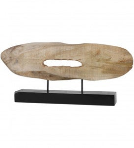 Paol Natural Mango Wood Log Sculpture
