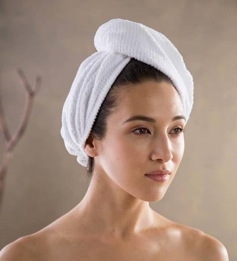 Home Spa Carded Cotton Head Wrap