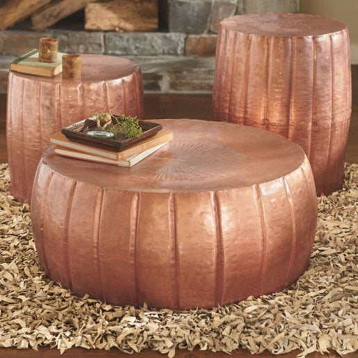 Hammered Drum Tables Collection By Category Furniture