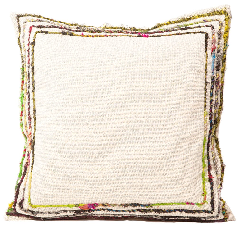 "Cotton Blend Shimmering Pillow, 18"" sq."