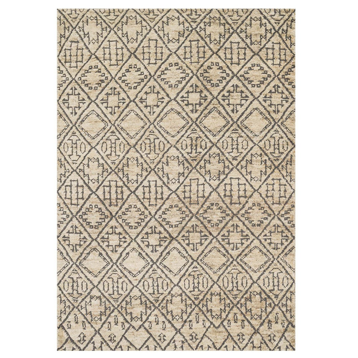 "Loloi Sahara Drawn to Scale Rug in Birch - 7'9"" x 9'9"" - Sand"
