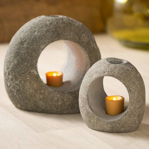 Zen Stone Tealight Holders