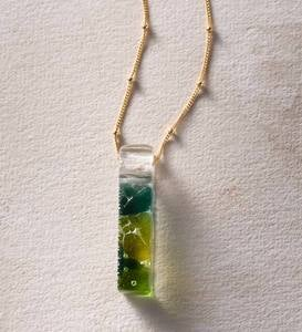 Mosaic Recycled Glass Necklace - Confetti