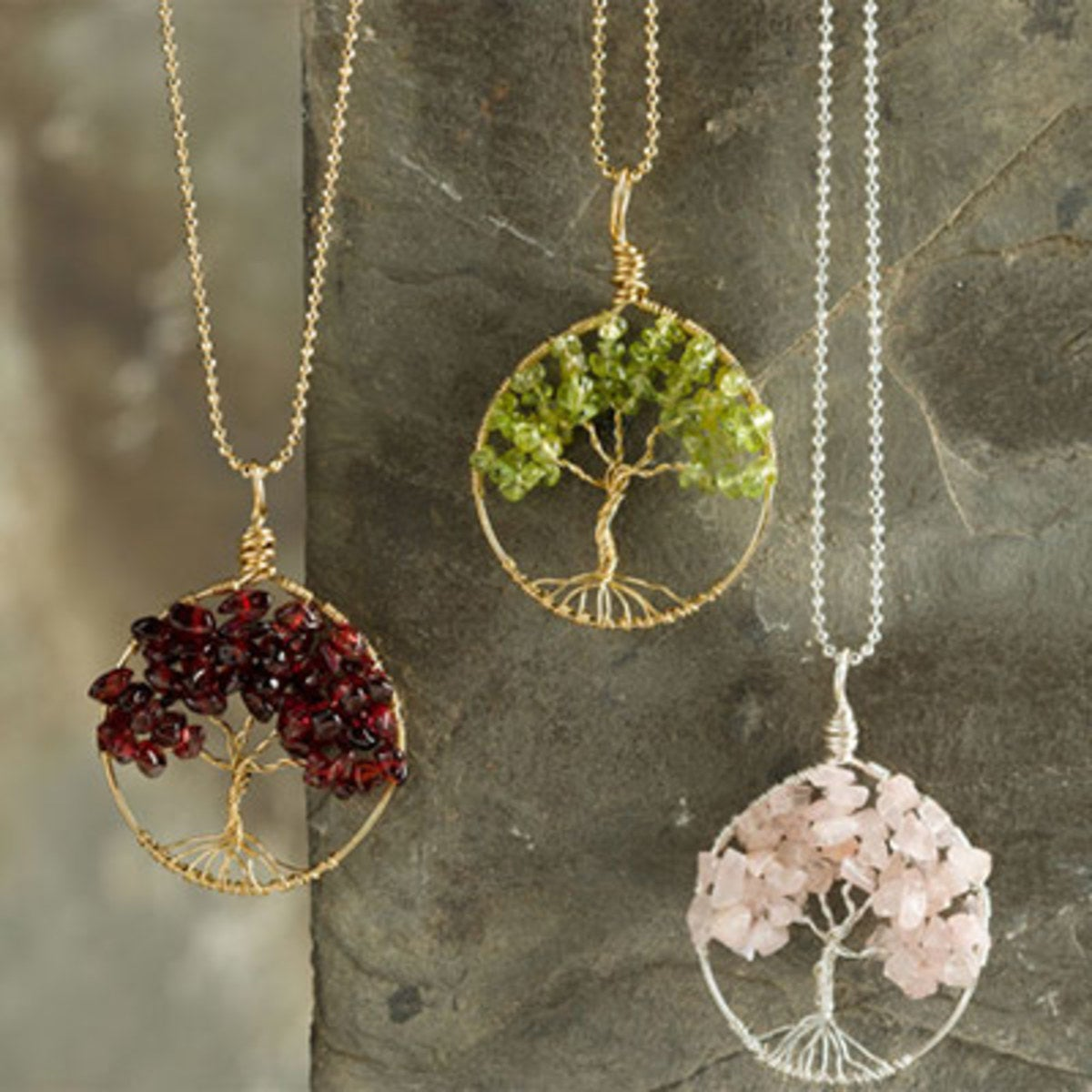Wired Tree Of Life Necklace Gold