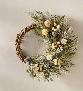Springtime Floral Twig Wreath with Hanger
