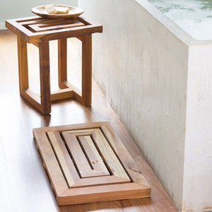 Scrap Teak Bath Collection