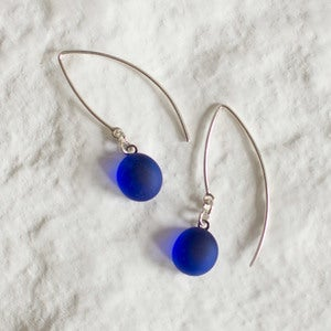 Sea Glass Earrings - Blue Multi