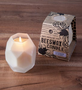 Geo Beeswax Honey Candles