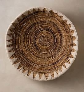 Banana Bark Woven Wall Basket