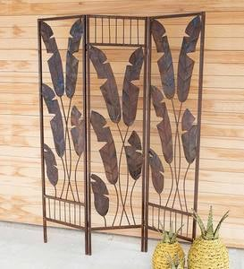 Folding Banana Leaf Screen