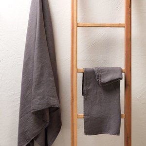 Pure Linen Waffle Weave Hand Towel, Set of 2