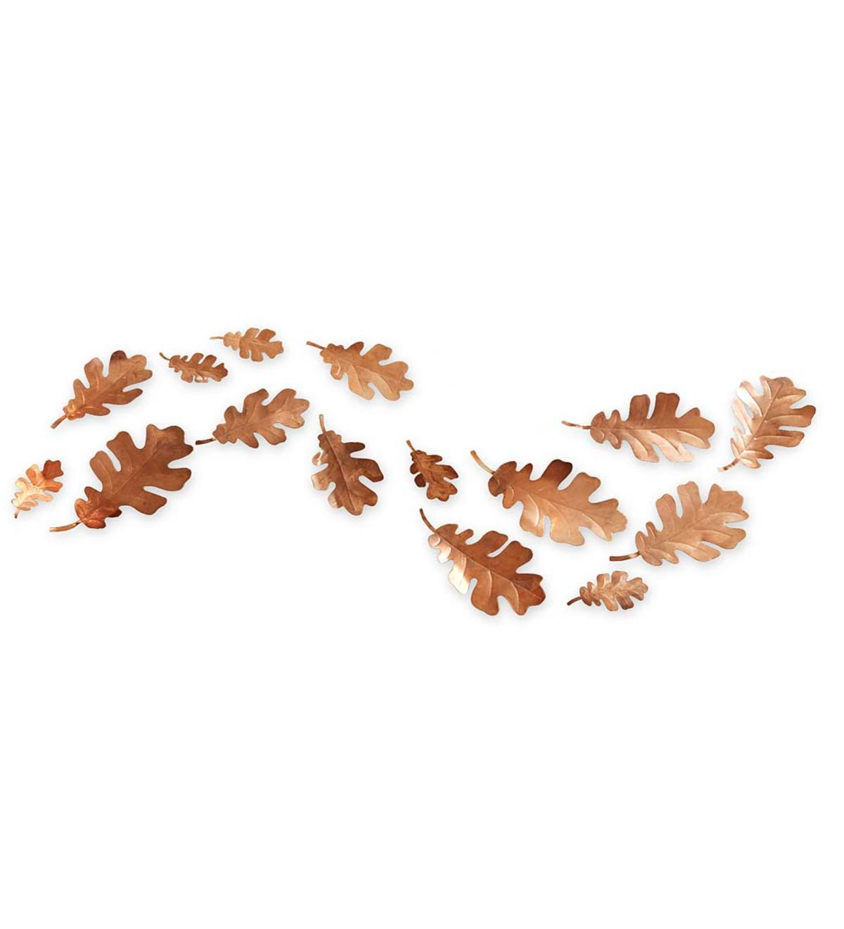 Decorative Mini Copper Leaves Set