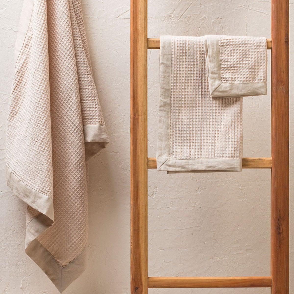 Belgian Flax Linen Waffle Weave Bath Linen Collection