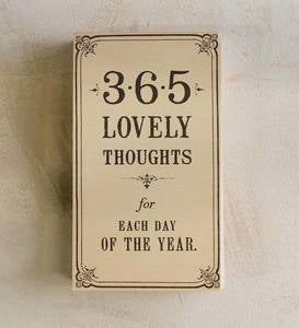 365 Lovely Thoughts Pad