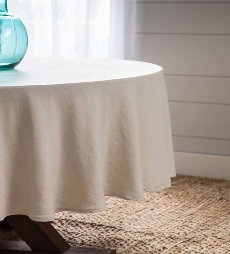 "100% Pure Linen Everyday Tablecloths - 90"" Round"