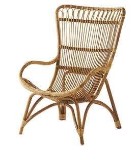 Rattan Lounge Chair - Antique