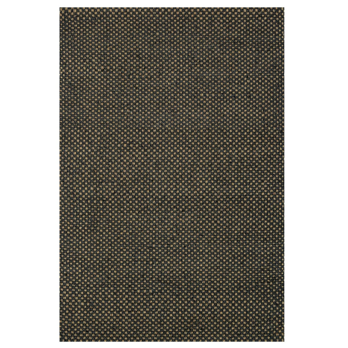 "Loloi Eco Checked Jute Rug in Black - 7'9"" x 9'9"" - Black"