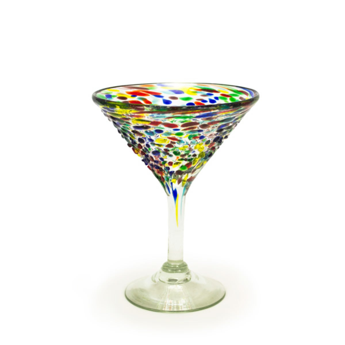 Mini Carnival Recycled Martini Glass