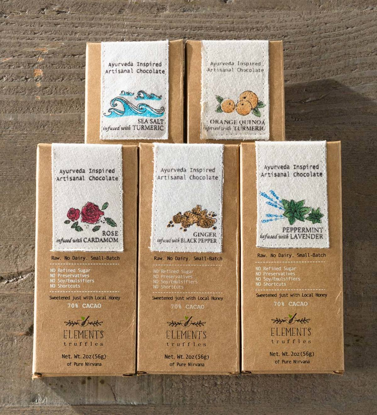 Assorted Pack of Classic Signature Chocolate Bars- Elements Truffles