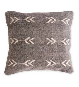 Mexican Pedal Loom Pillow Cover- Gray Arrow