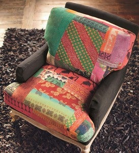 Patchwork Seat & Back with Cafe Base - Patchwork Flax