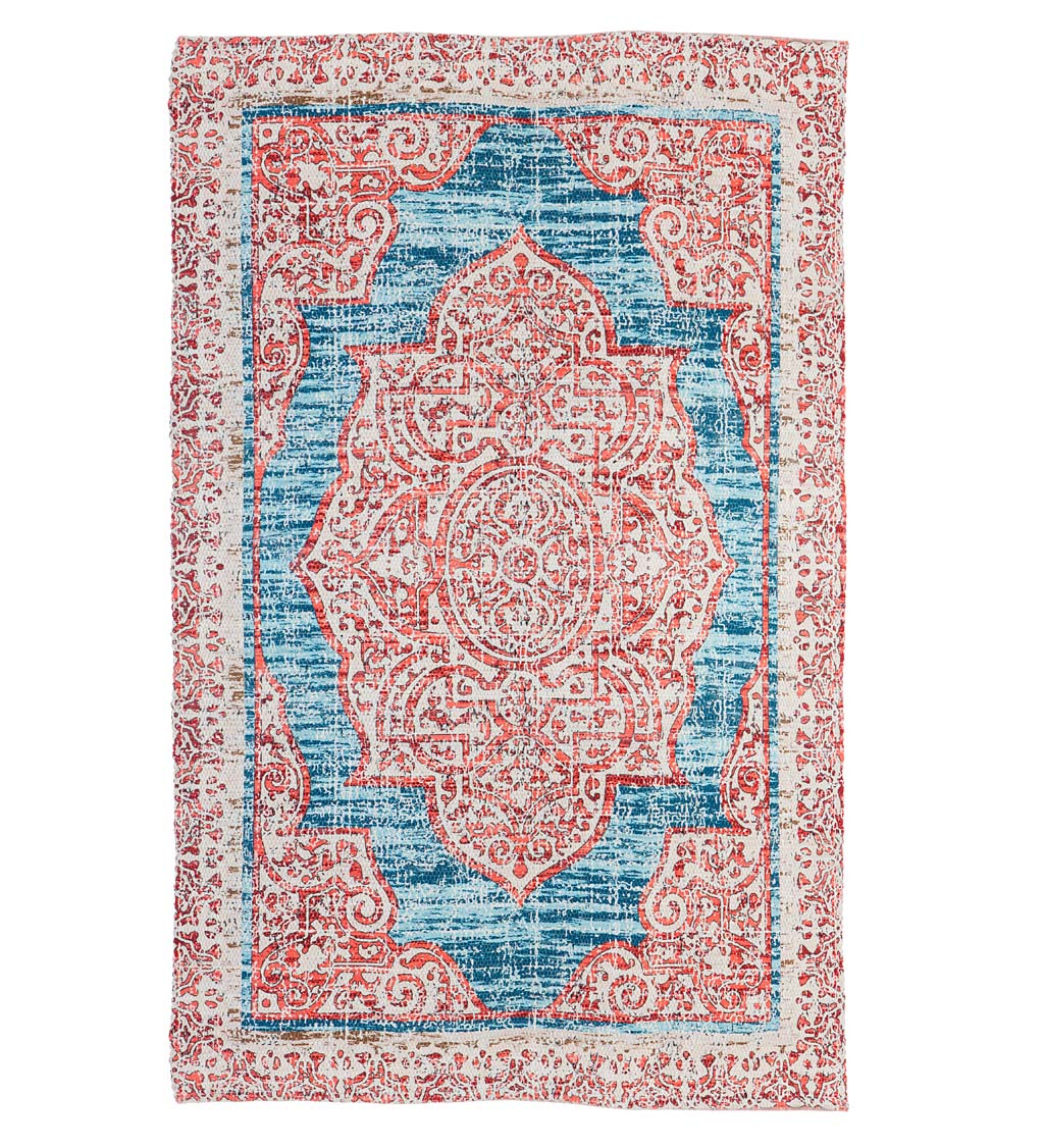Recycled Digitally-Printed Indoor and Outdoor-Safe Rug
