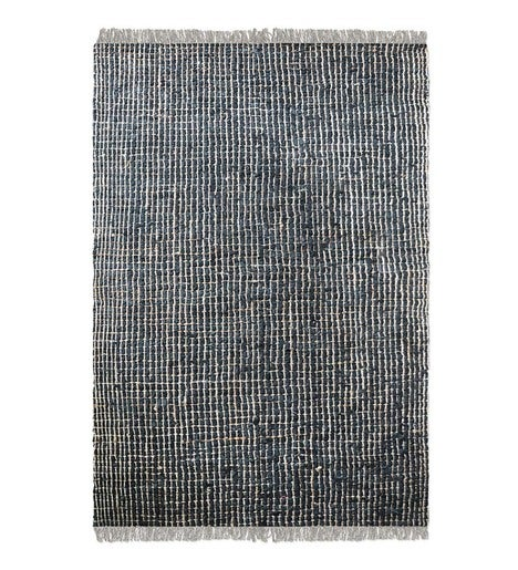 Braymer Recycled Leather and Natural Hemp Rug - 9'X12'